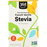 365 by Whole Foods Market, Stevia Packets, French Vanilla (75 Packets), 2.65 Ounce