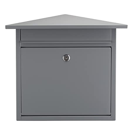 Lyndan - Large Outdoor Exterior Steel Wall Mounted Mail Box Post Box with Lock on Door  sc 1 st  Amazon UK & Lyndan - Large Outdoor Exterior Steel Wall Mounted Mail Box Post Box ...