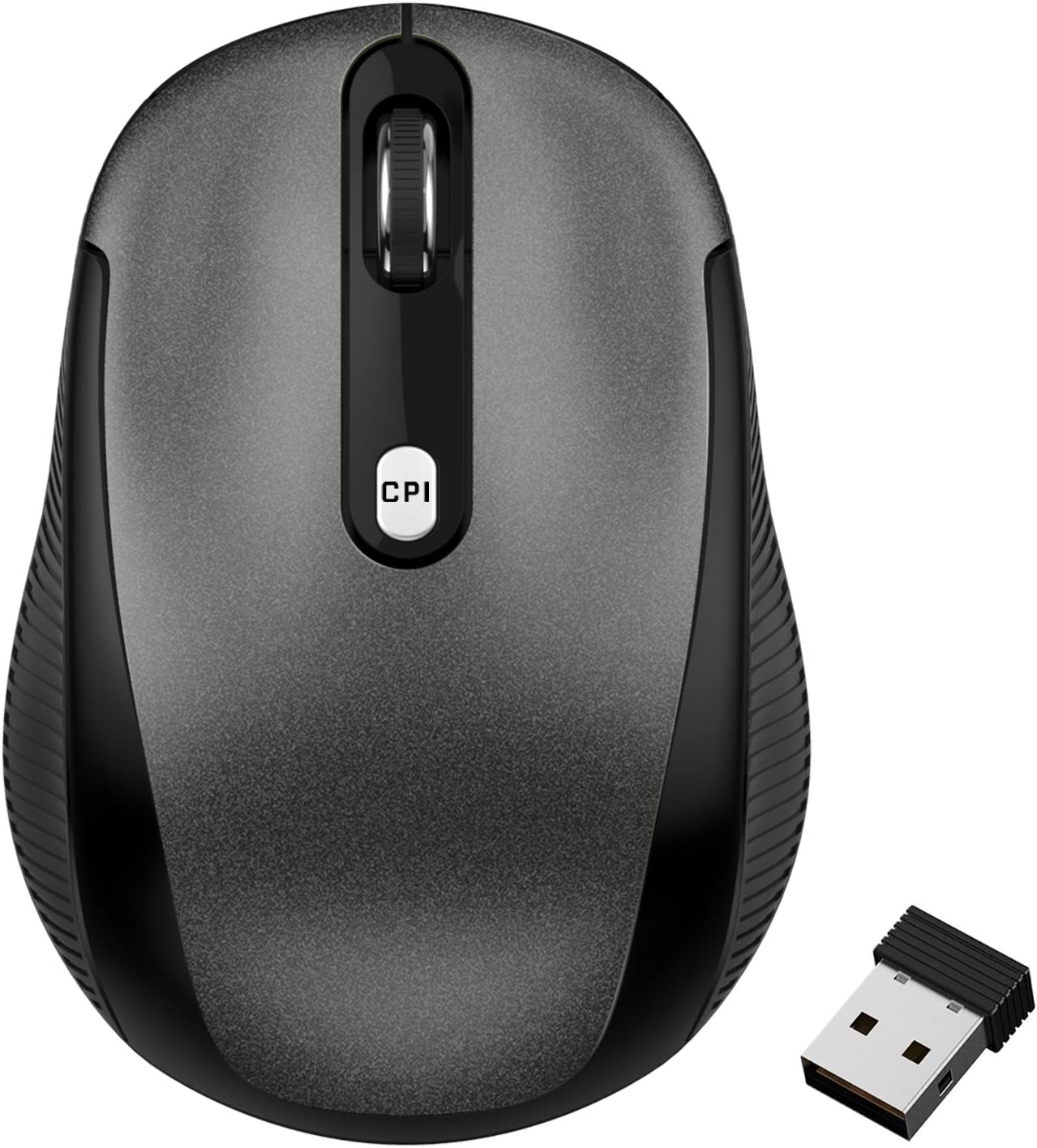 JETech 2.4Ghz Wireless Mobile Optical Mouse with 3 CPI Levels and USB Wireless Receiver (0770)