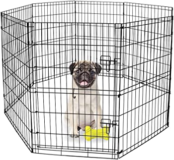 8-Panel Foldable Exercise Pen / Dog Playpen with Single Door