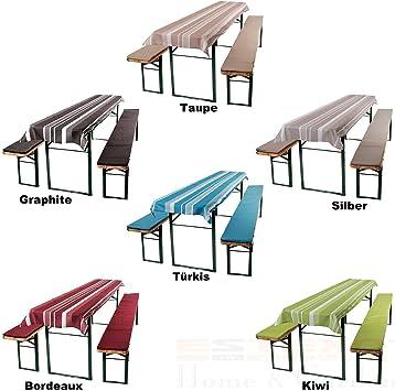 Juego de cubiertas de tela con acolchado para mesa y bancos, mobiliario para tomar cerveza al aire libre, en varios colores: Amazon.es: Hogar