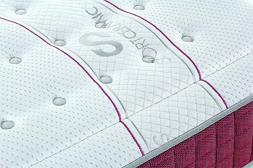 MINIDO Vital Colchón Deportivo, Viscoelástica Energex, tejido con hilos de cerámica, alta transpiración,blanco, 150x190, todos los tamaños.