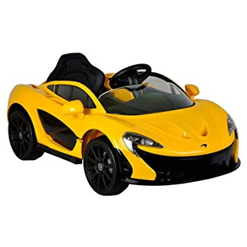 Licensed McLaren P1 12V Battery Powered Ride On Kids Car Remote Control  Yellow