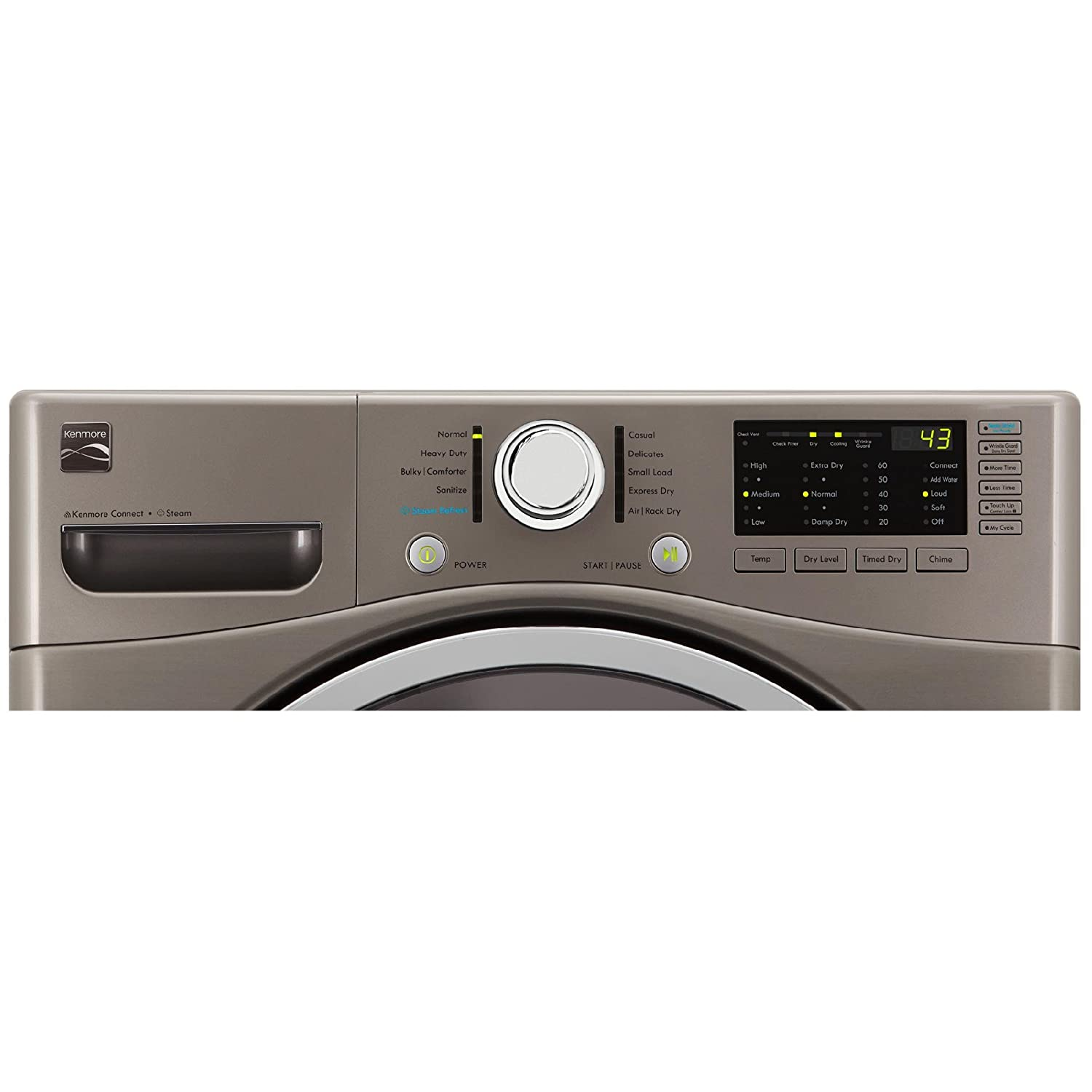 cu Kenmore 81382 White 2681382 7.4 Cubic Feet Electric Dryer with ...