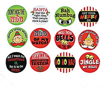 sassy christmas buttons 24 pieces - Christmas Buttons