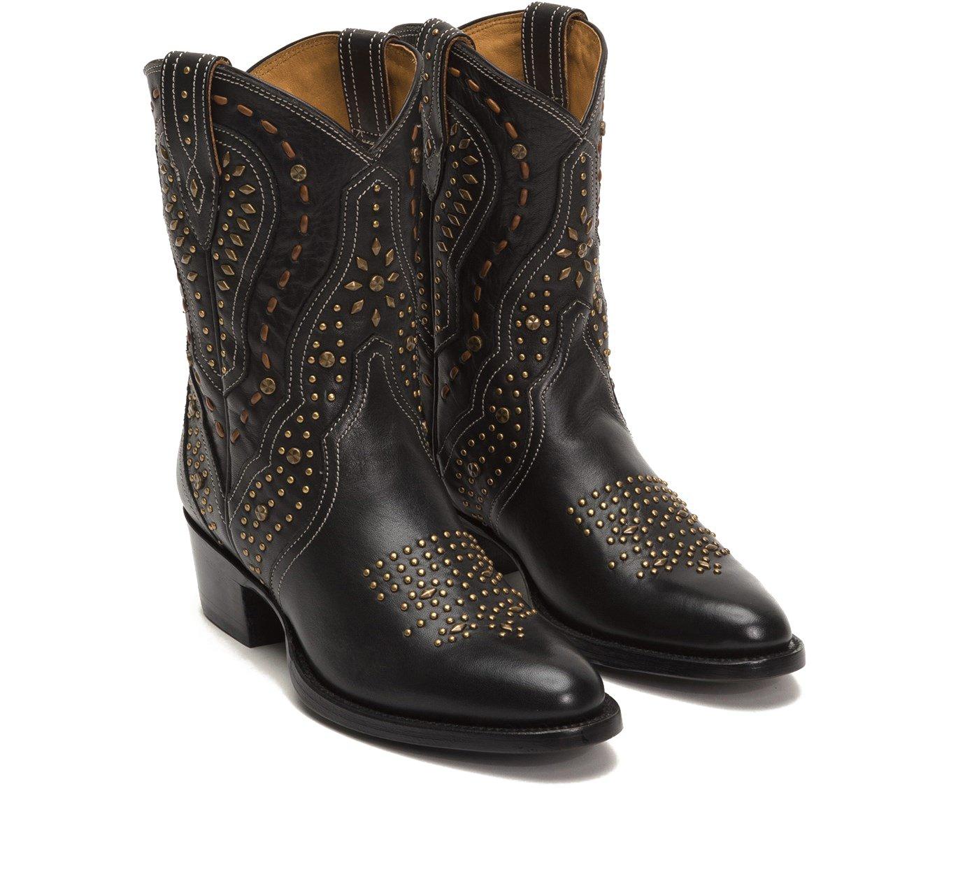 FRYE 79127 Women's Kelsea Stud Short Boot B076KXY92Q 10 B(M) US|Black