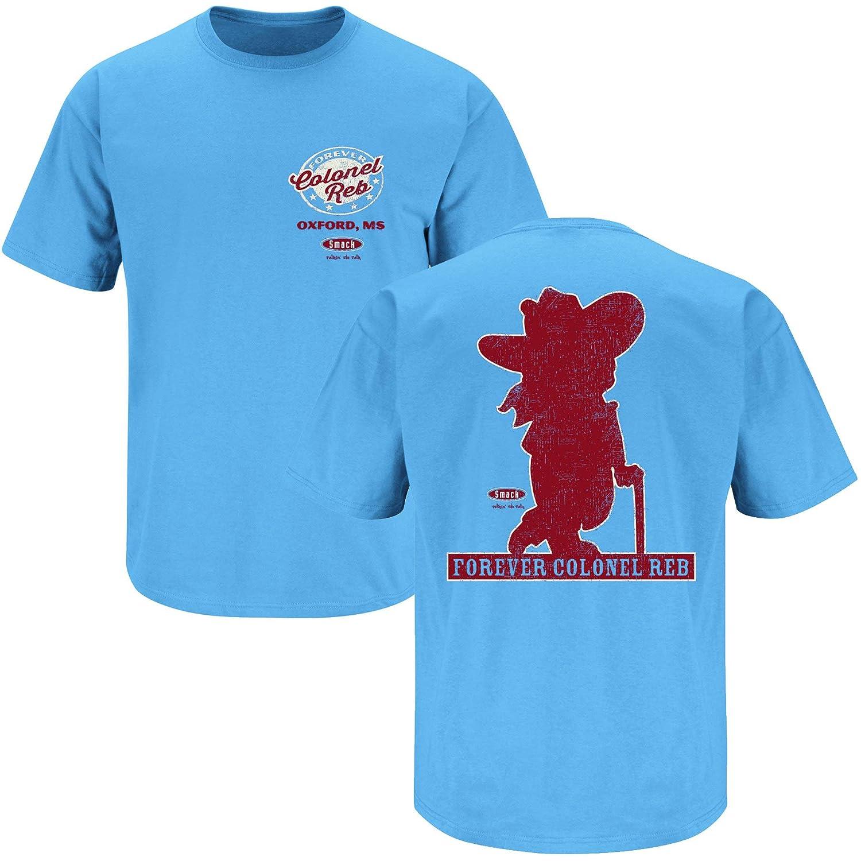 Smack Apparel Ole Miss Fans. Colonel Reb Light Blue T Shirt Sm 5X