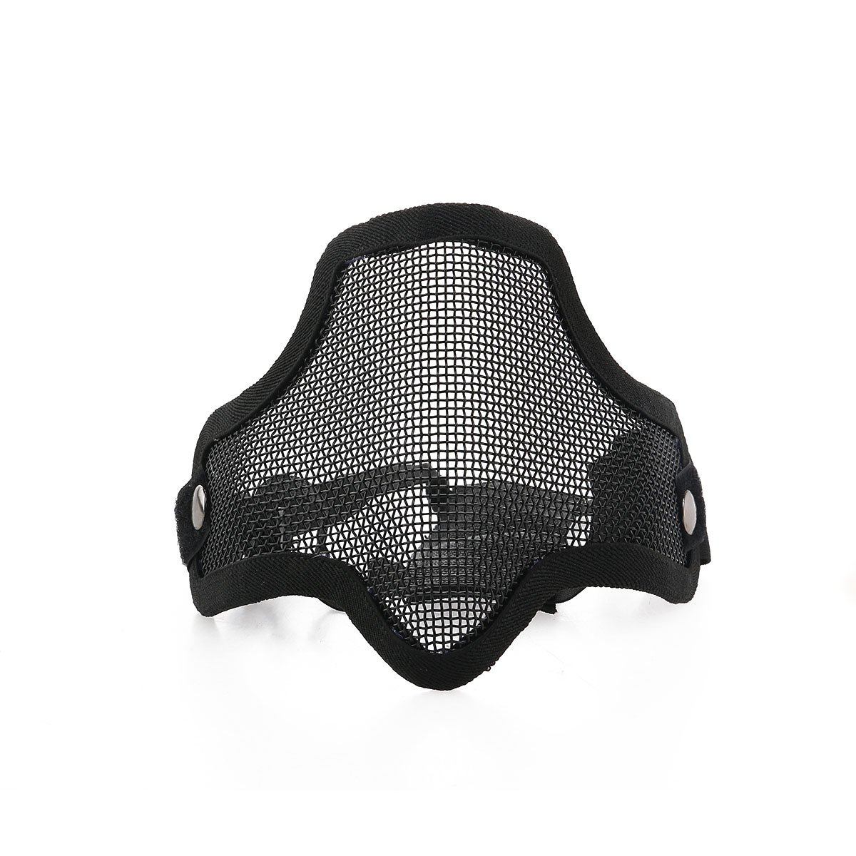 Foxnovo CM01 Sports de plein air chasse Tactical Metal Mesh demi visage masque masque de protection avec bandeau élastique réglable (noir) Fenical