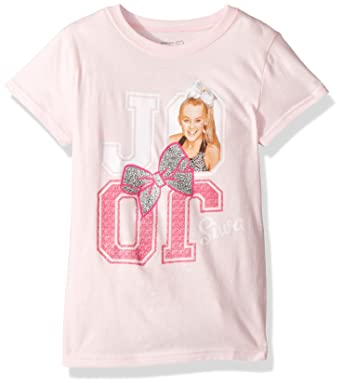 5bb3c26dede Amazon.com  Jojo Siwa Girls  Big Reflection Short Sleeve T-Shirt  Clothing