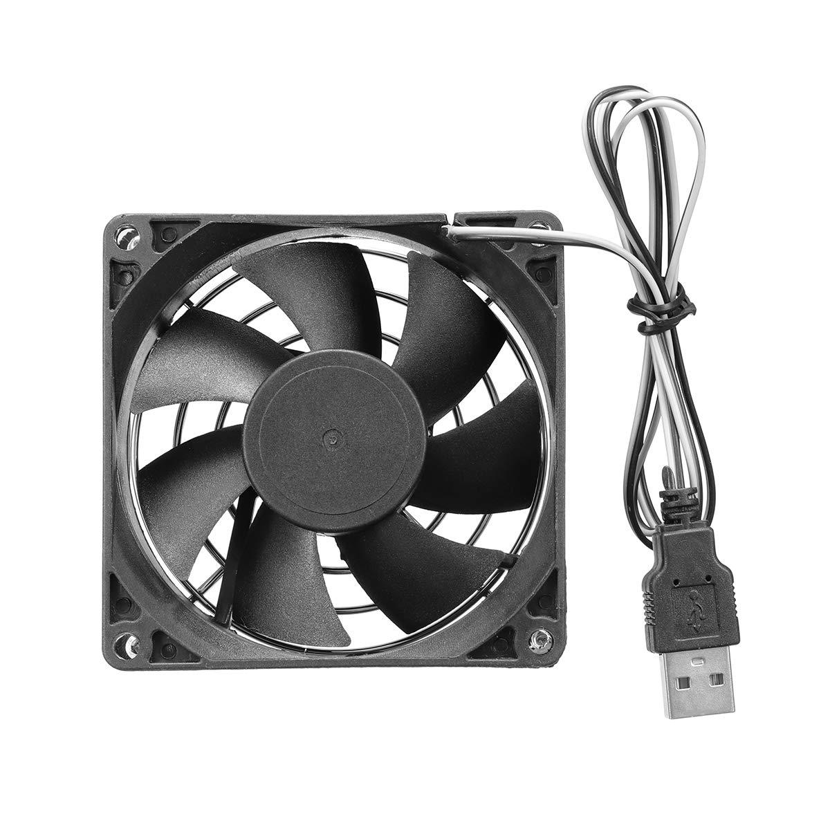PANGUN 8Cm USB De Refrigeraci/ón Disipador T/érmico del Ventilador para Pc Ordenador TV Box para Xbox Playstation Electr/ónica