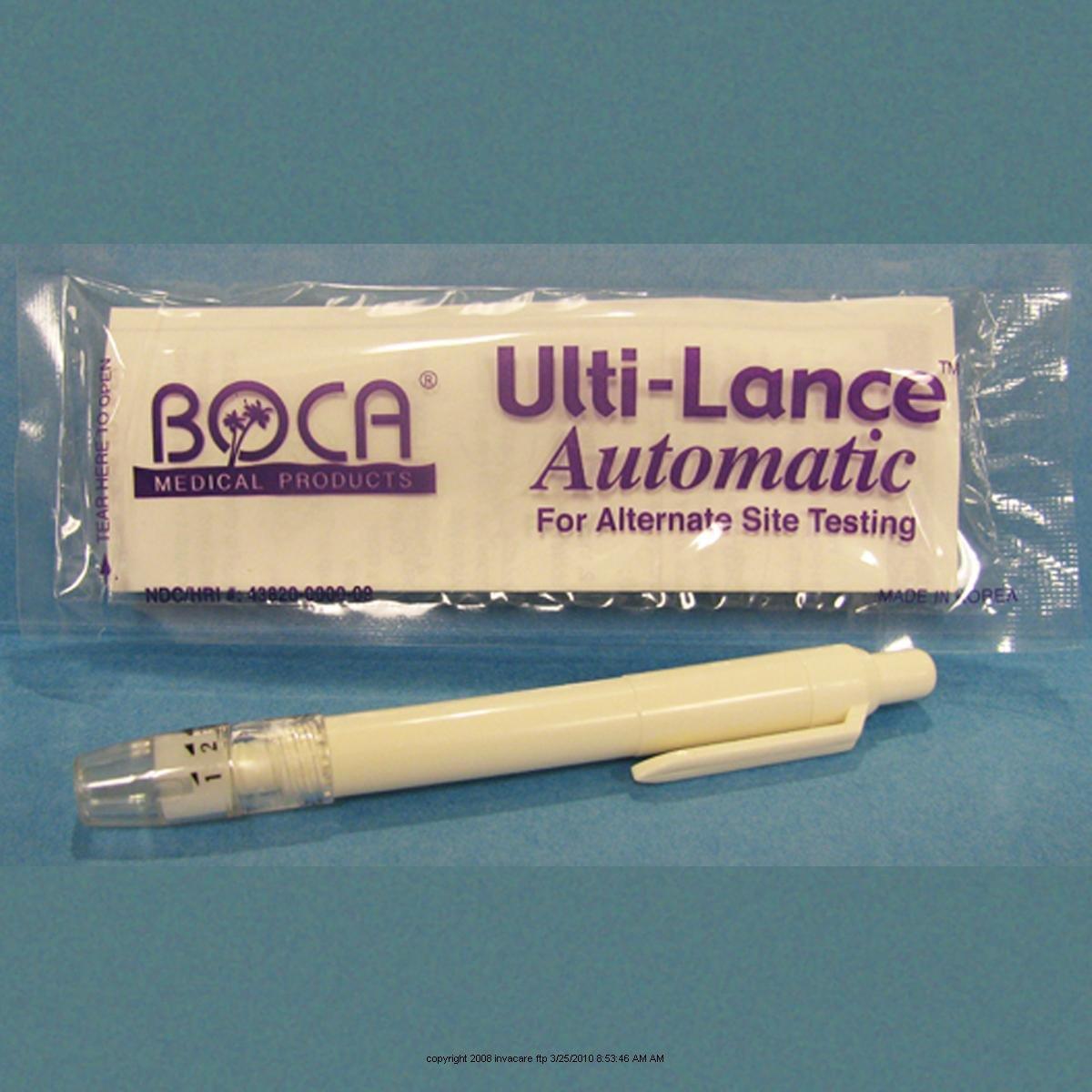 The Ultilet Ulti-Lance, Lancing Device, (1 BOX, 100 EACH)