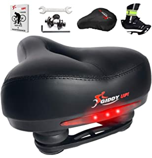 provelo Most Comfortable Bike Seat for Men Women Rechargeable Taillight