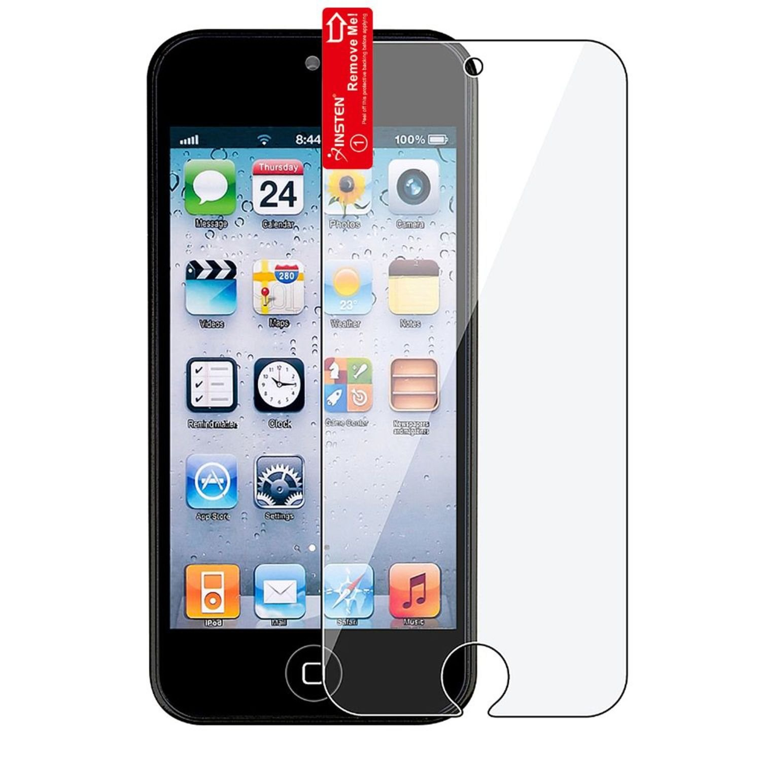 eForCity 5 x Reusable Screen Protector Compatible with Apple® iPod touch® 5th Generation 813716