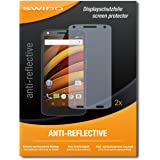 "2 x SWIDO® protecteur d'écran Motorola Moto X Force protection d'écran feuille ""AntiReflex"" antireflets"