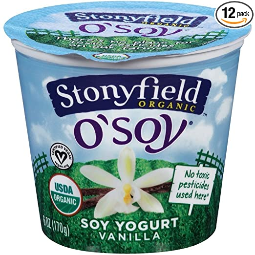 Stony field Farm Organic O Soy Fruit on the Bottom Vanilla Soy Yogurt
