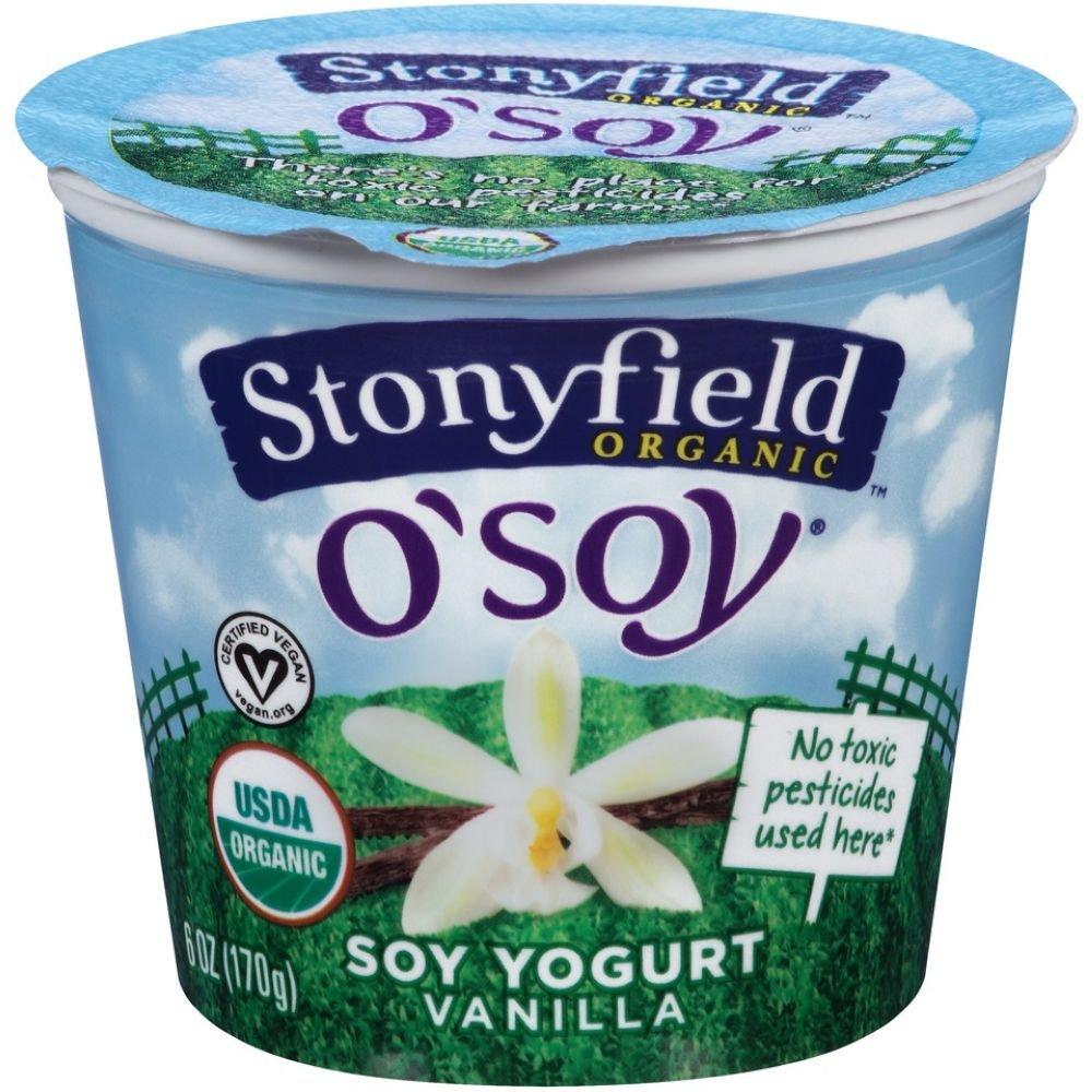 Stonyfield Farm Organic O Soy Fruit on the Bottom Vanilla Soy Yogurt, 6 Ounce - 12 per case.