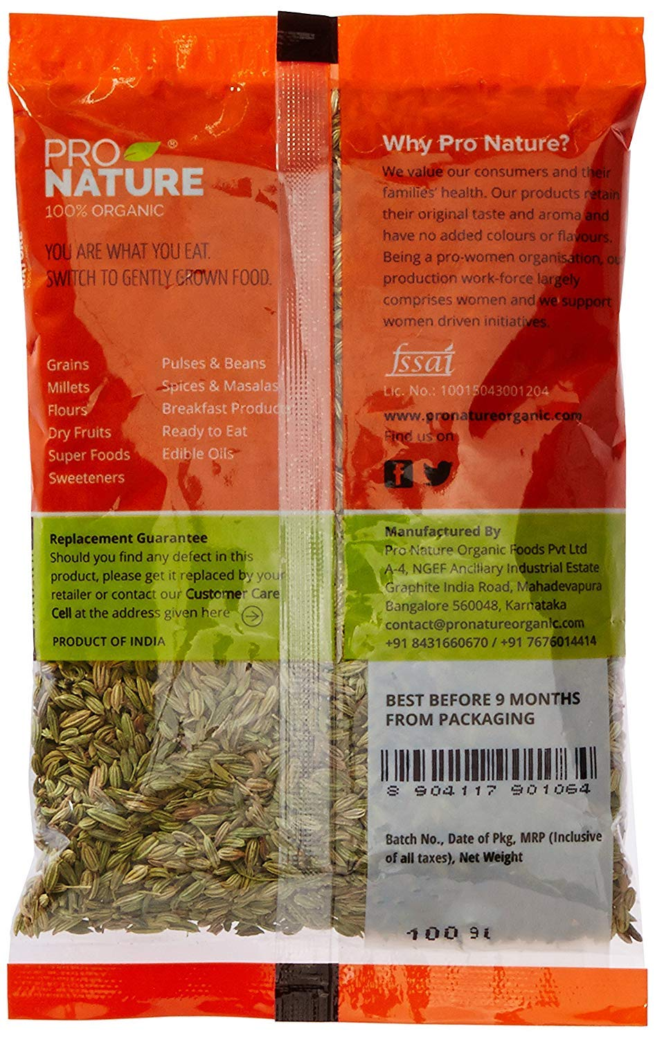 Pro Nature 100% Organic Saunf (Fennel) 100 g by Hindustan Mart (Image #2)