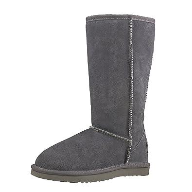 Shenduo Zapatos Invierno Botas de Piel Para Mujer de Caña