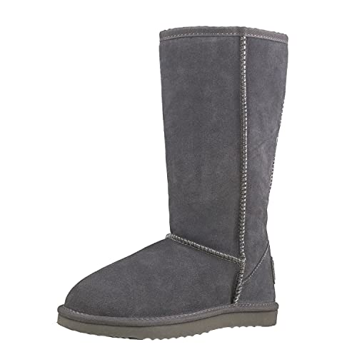 Invierno Shenduo De Caña Da5815 Mujer Forradas Zapatos Clásicas Para Botas Alta Planas Piel 2D9HIE