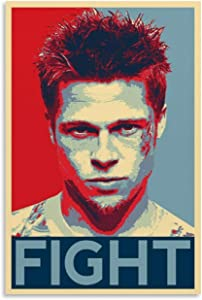Fight Club Movie Poster Wall Art Decor Canvas Painting 24x36inch(60x90cm) Posters Painting Canvas Decor Prints Wall Art Picture, No-Framed