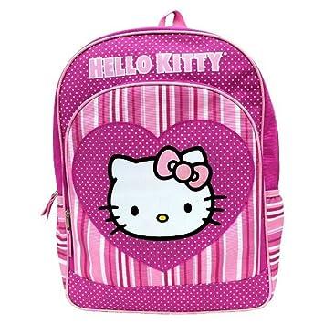 Sanrio Hello Kitty chica corazón rosa - Mochila escolar: Amazon.es: Equipaje