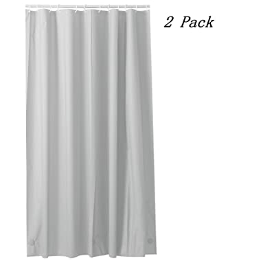 Ghooss PEVA 8G Shower Curtain Liner (Pack of 2), Waterproof Bathroom Liner ,  72 Inch by 72 Inch (Taupe, 72W 72L)