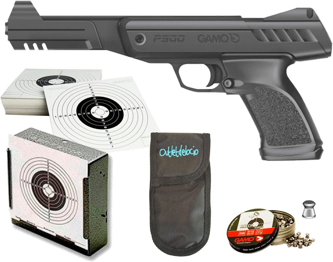 Pack pistola Perdigón Gamo P-900 Gunset + Funda Portabalines. 57201/23054