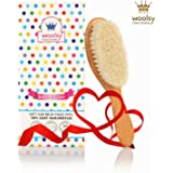Woolsy Wooden Baby Hair Brush - Beech Wood