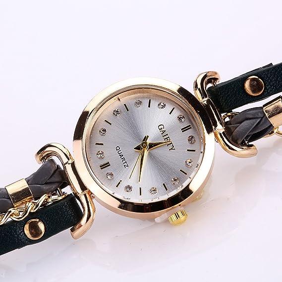 Darringls_Reloj GaietyG368,Reloj De Pulsera De Cuero para Mujer Fino ...
