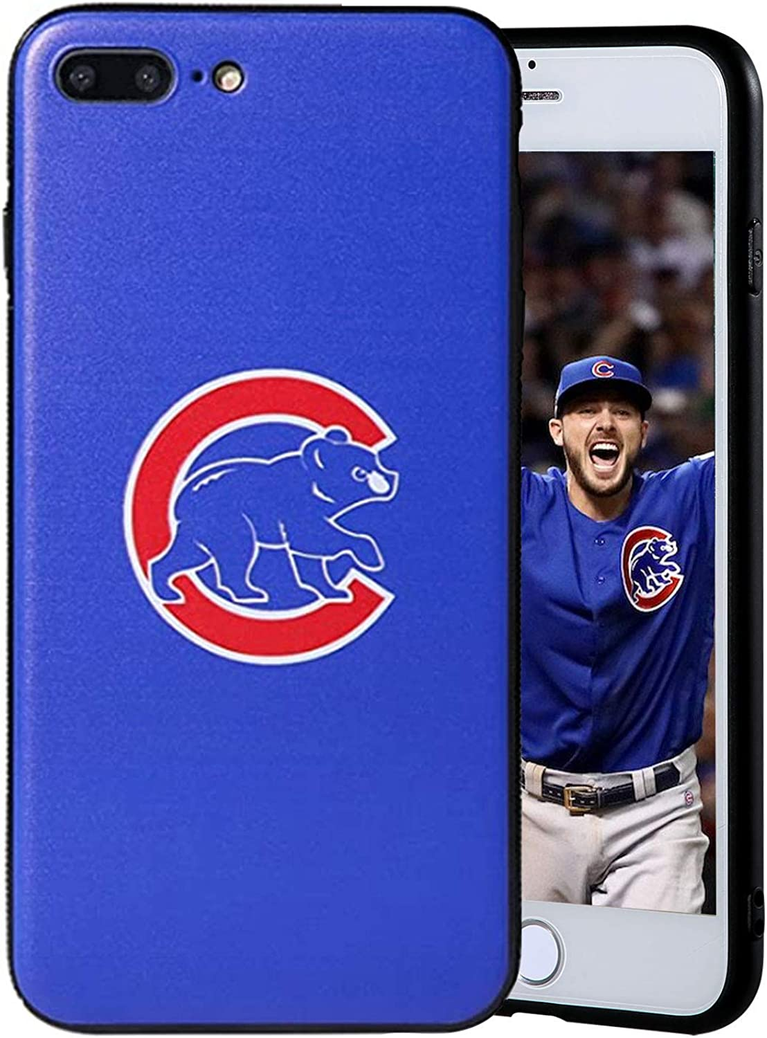 """Sportula MLB Phone Case, Compatible for Apple iPhone 7 Plus, iPhone 8 Plus (5.5"""") Matching 2 Premium Screen Protectors Extra Value Set"""