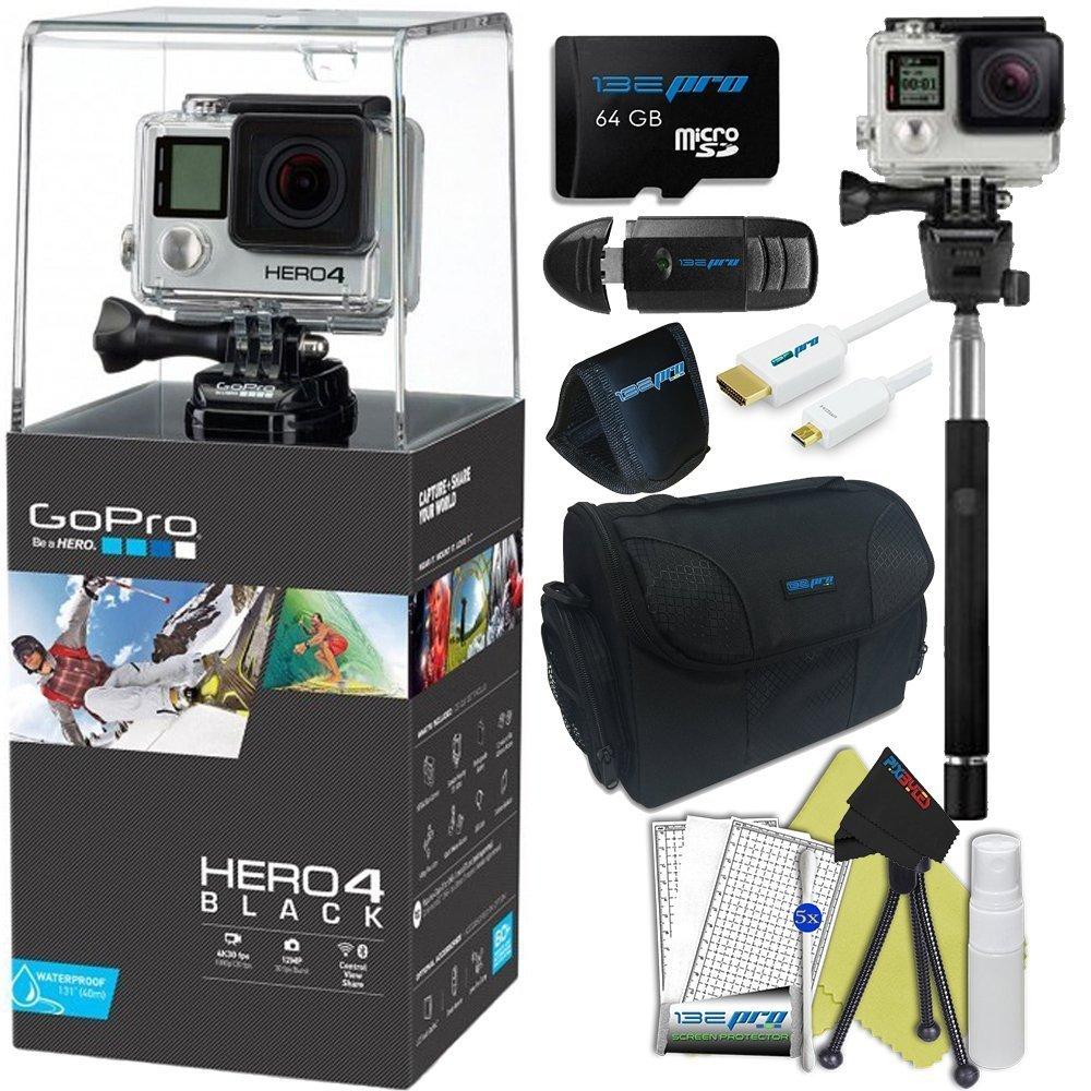 GoPro Hero 4 Black 4K Waterproof Action Camera Kit (9 Items) [並行輸入品]   B01NACYVF3