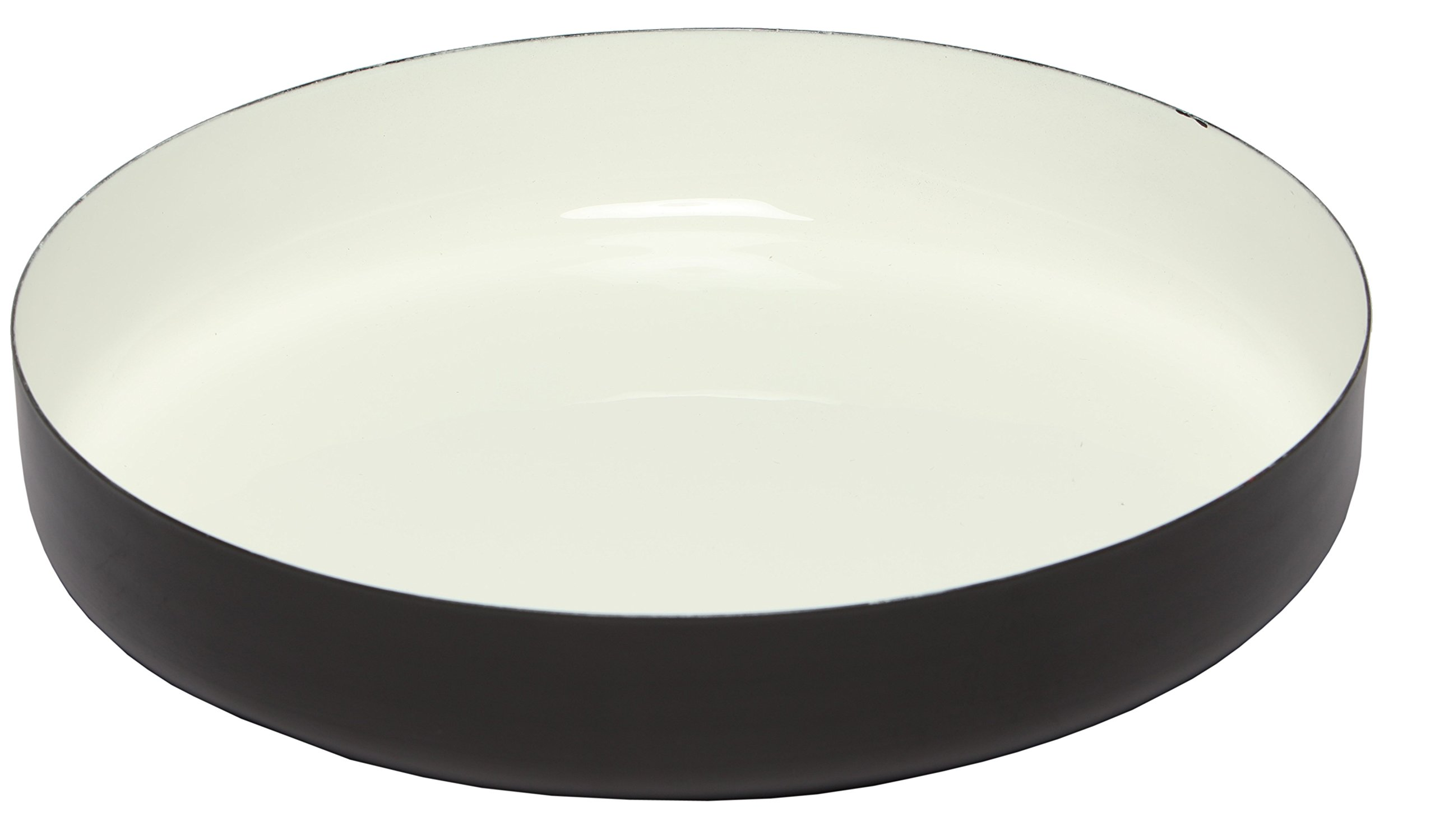 Melange Home Decor Modern Collection, 12-inch Round Platter, Color - White