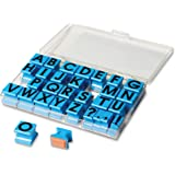 """Educational Insights 1470 Alphabet Rubber Stamps Uppercase, 5/8"""""""