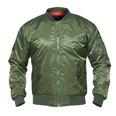 19fe5ebe049 Coac3 Men Bomber Jacket Winter Army Green Military Motorcycle Jacket Pilot  Air Force Flight Jacket Coat at Amazon Men's Clothing store: