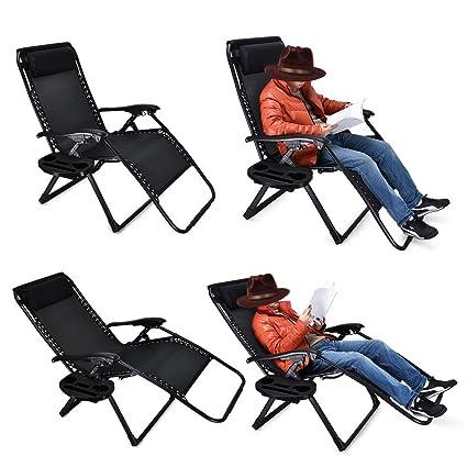 Amazoncom Ezcheer Zero Gravity Chair Oversized 2 Pack Supports