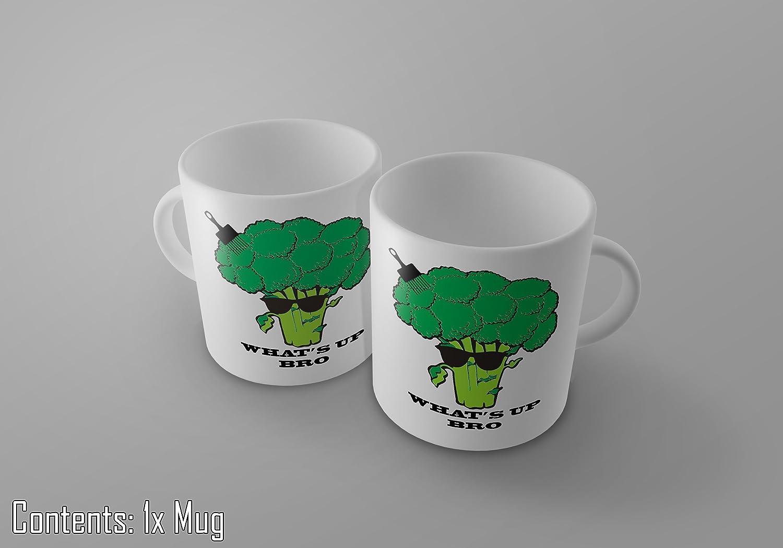 /idea regalo What s Up Bro/ /Funny vegetariani//vegani Broccoli tazza da caff/è//t/è/