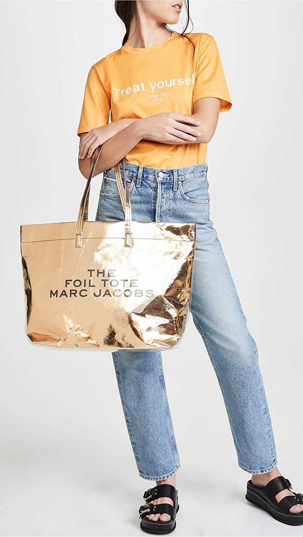 6dd268d3f439 Amazon.com  Marc Jacobs Women s The Foil Tote Bag