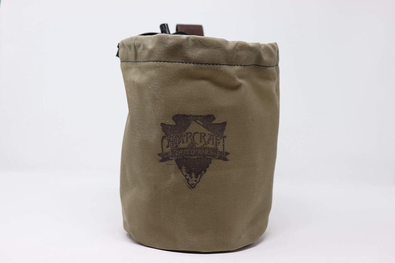 Bushcraft Cookware Bag, Bush Pot Bag, Waxed Canvas