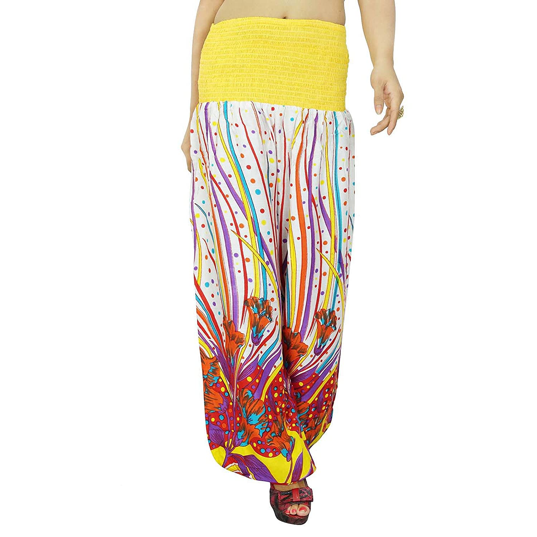 Blumenharemshosen Boho Gypsy Hose Elastische Hosen Beach Wear Pyjamas