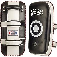 Fairtex de paos para patadas curvas vienen en pares estándar de tamaño, Color Extra gruesa/blanco almohadilla de pateando para Muay Thai, boxeo, Kickboxing, MMA