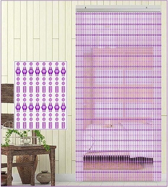 GuoWei-Cortinas de Cuentas Policarbonato para Puerta Decoración Tabique Colgante Cuerdas Salón Dormitorio Armario Personalizable (Color : B, Size : 72 strands-100cmx220cm): Amazon.es: Hogar