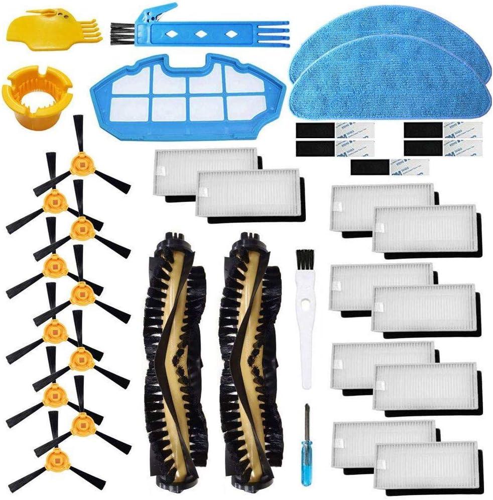 BSDY YQWRFEWYT Repuesto para Cecotec Conga Excellence 990 Robot Aspirador Kit de Accesorios Cepillo Principal Filtro Hepa, Cepillo Lateral (Set 1)
