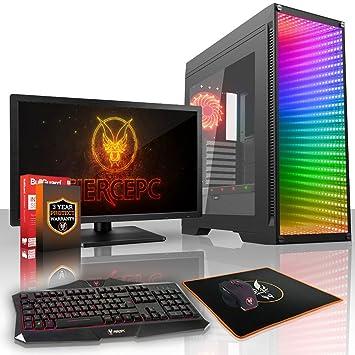 Fierce Alpha Rgb Gaming Pc Bundle Fast 3 7ghz Quad Core Amd Ryzen