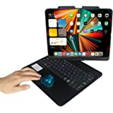 """MyMAX Touch Keyboard Case for Apple iPad Pro 12.9"""" 2021 5th/2020 4th/2018 3rd Gen, with Bluetooth 5.1 Smart Trackpad, 7-Color"""