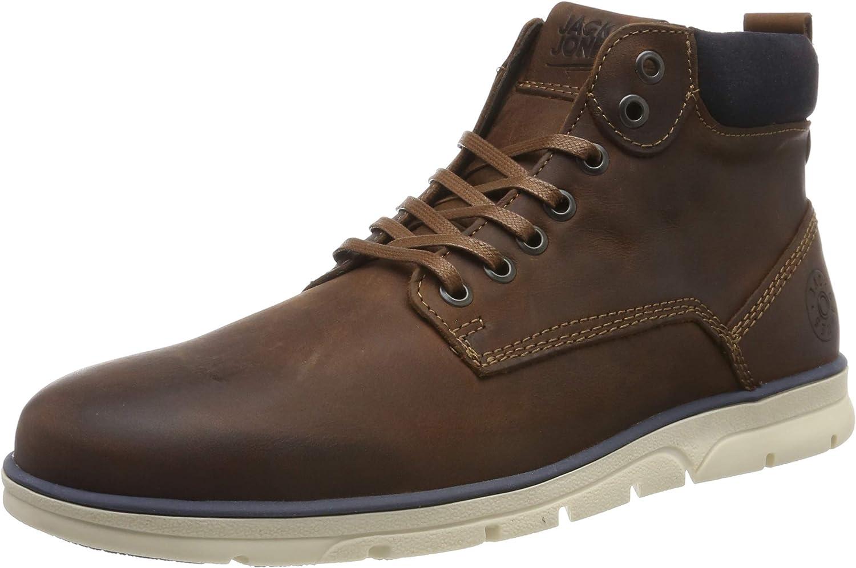 Jack & Jones Jfwtubar Leather Brandy STS, Chukka Boots para Hombre