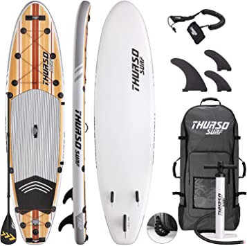 Amazon.com: THURSO SURF. Tabla de paddleboard inflable de 11 ...