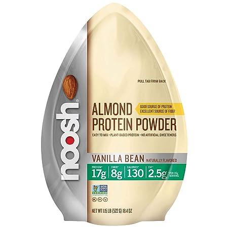 Noosh Almond Protein Powder Stand-up Resealable Pouch, Vanilla Bean, 1.15 Pound