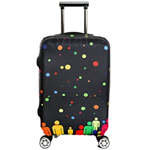 Washable Travel Luggage Cover Myosotis510 Funny Cartoon Suitcase Protector Fits 18-32 Inch Luggage Cover Only