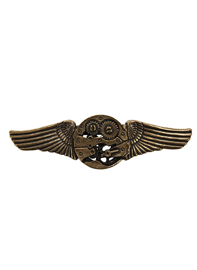 Vintage Style Jewelry, Retro Jewelry Antique Gear Wing Pin $7.95 AT vintagedancer.com