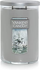 Yankee Candle Large Jar 2 Wick White Fir Scented Tumbler Premium Grade Candle Wax with up to 110 Hour Burn Time